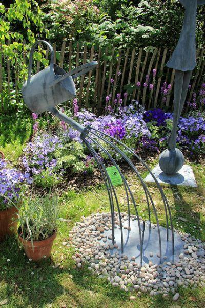 Garden Sculptures Ideas | Native | metal art | Pinterest | Garden ...