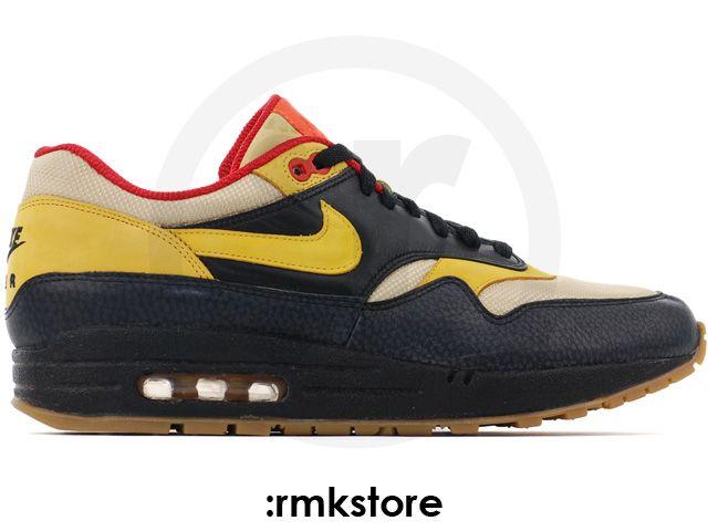 Nike Air Max 1 Supreme Safari Tech Pack 2 Spider Black Gold