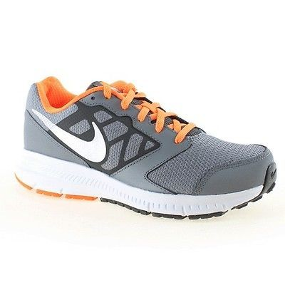 7d130c2976b2 Nike Downshifter 6 Gs Kids 684979-008 Grey Orange Athletic Shoes Youth Size  6