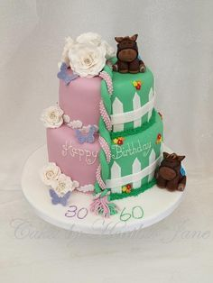 FatherandDaughterjointbirthdaycake cakes Pinterest