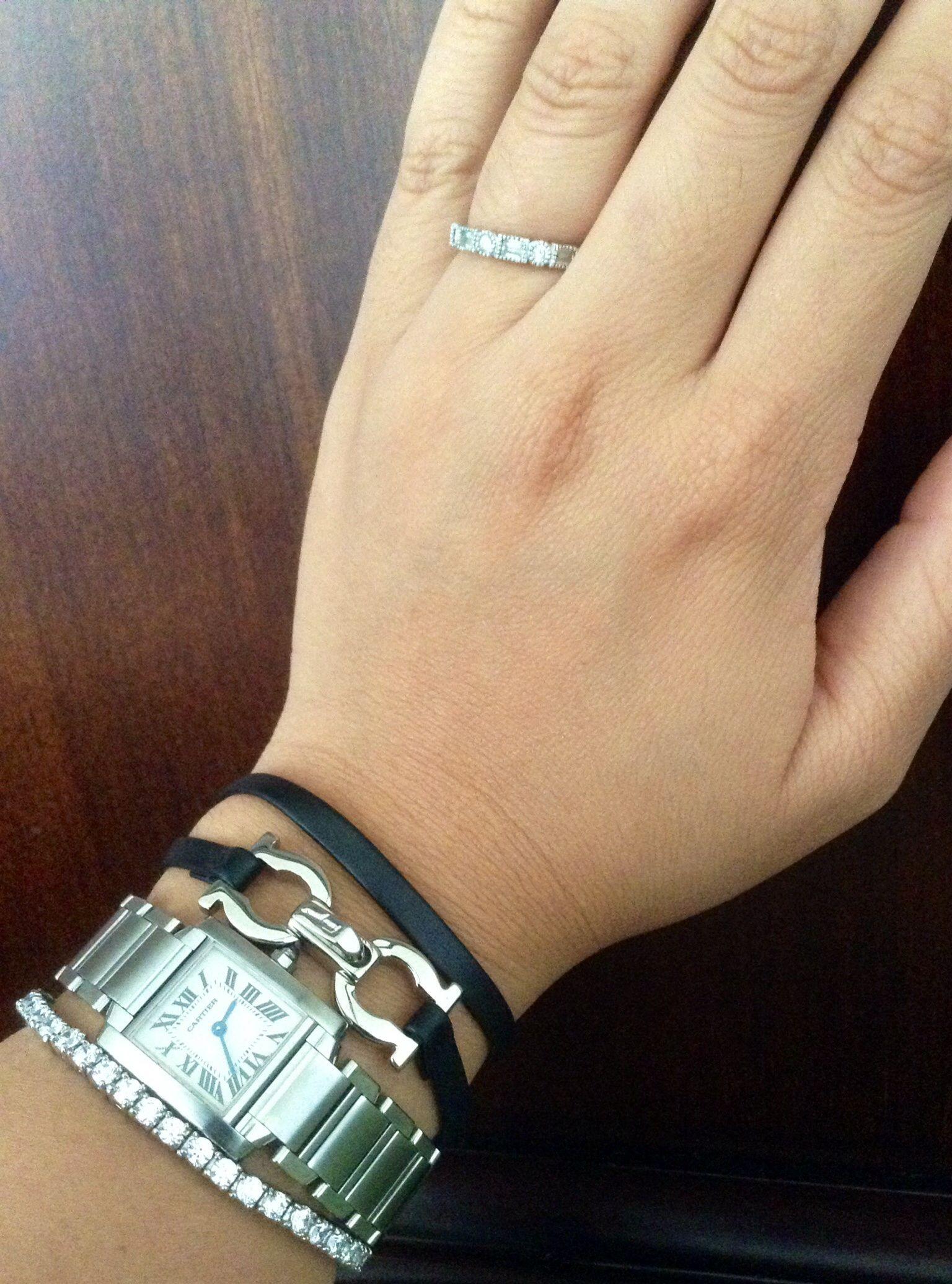 Diamond Tennis Bracelet Ferragamo Leather Bracelet Small