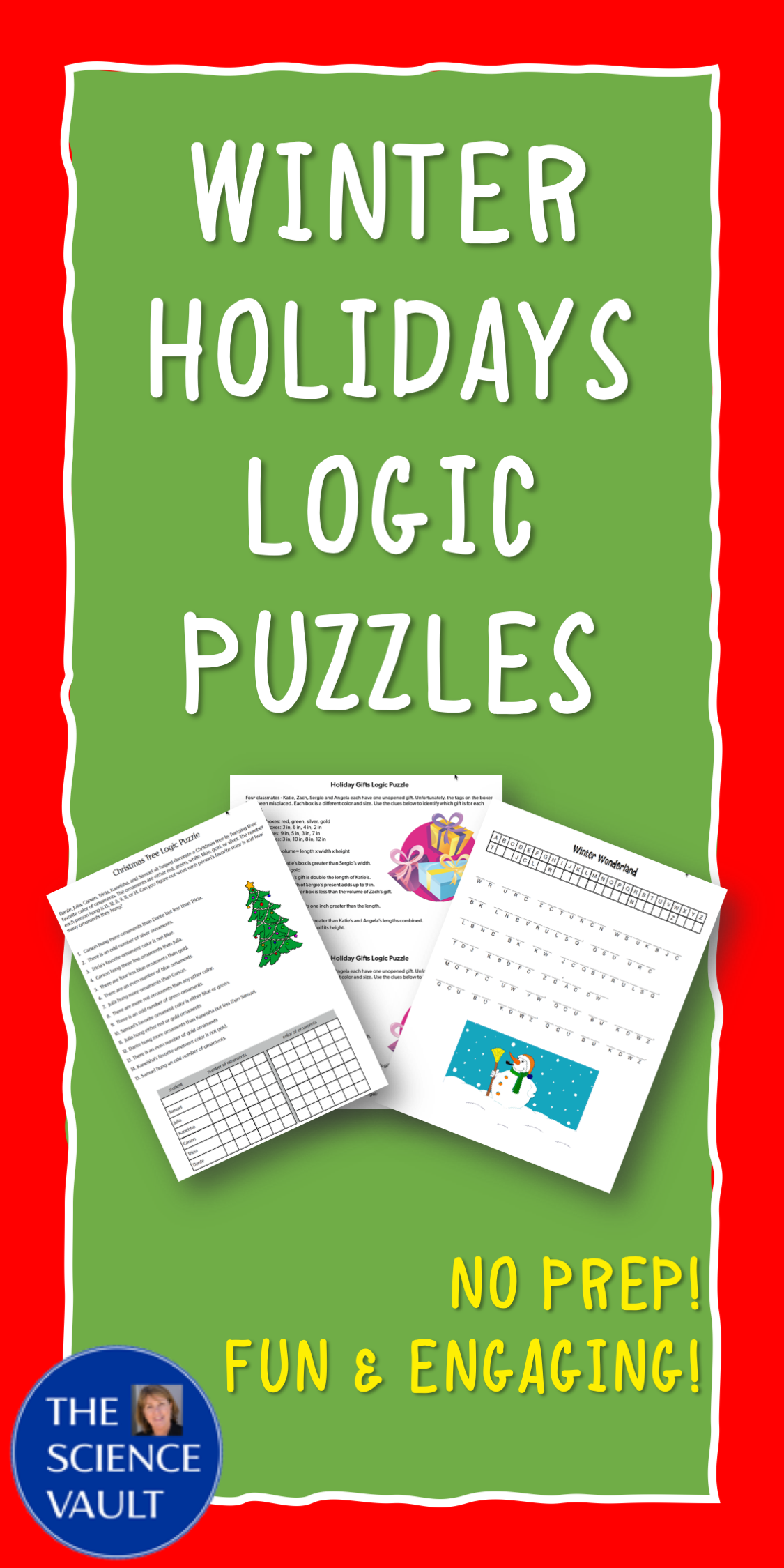 Winter Holidays Logic Puzzles And Brain Teasers For