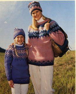 Knitting Pattern Name: Diamond Ice Icelandic Sweater (Brown Sheep #9501) Pattern by: Nadia Severns
