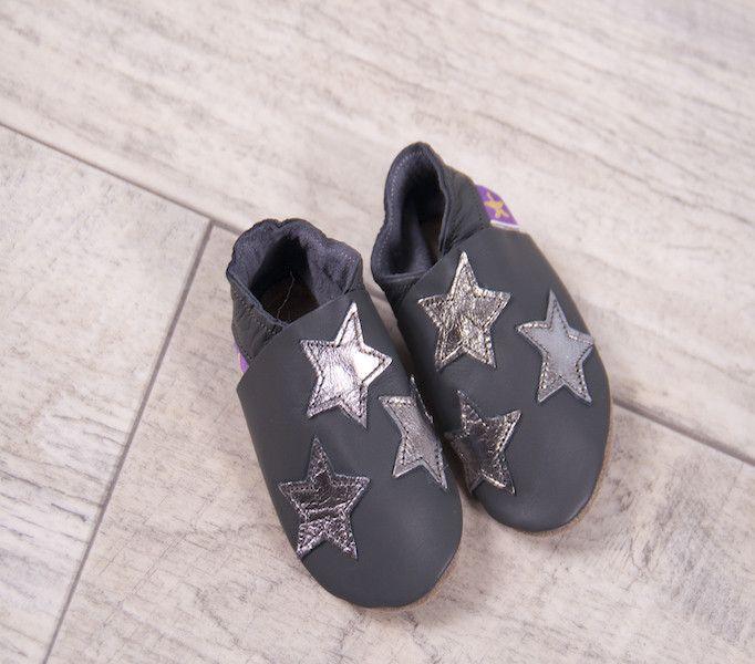 Starchild Grey & Silver Star Pumps - £18.00