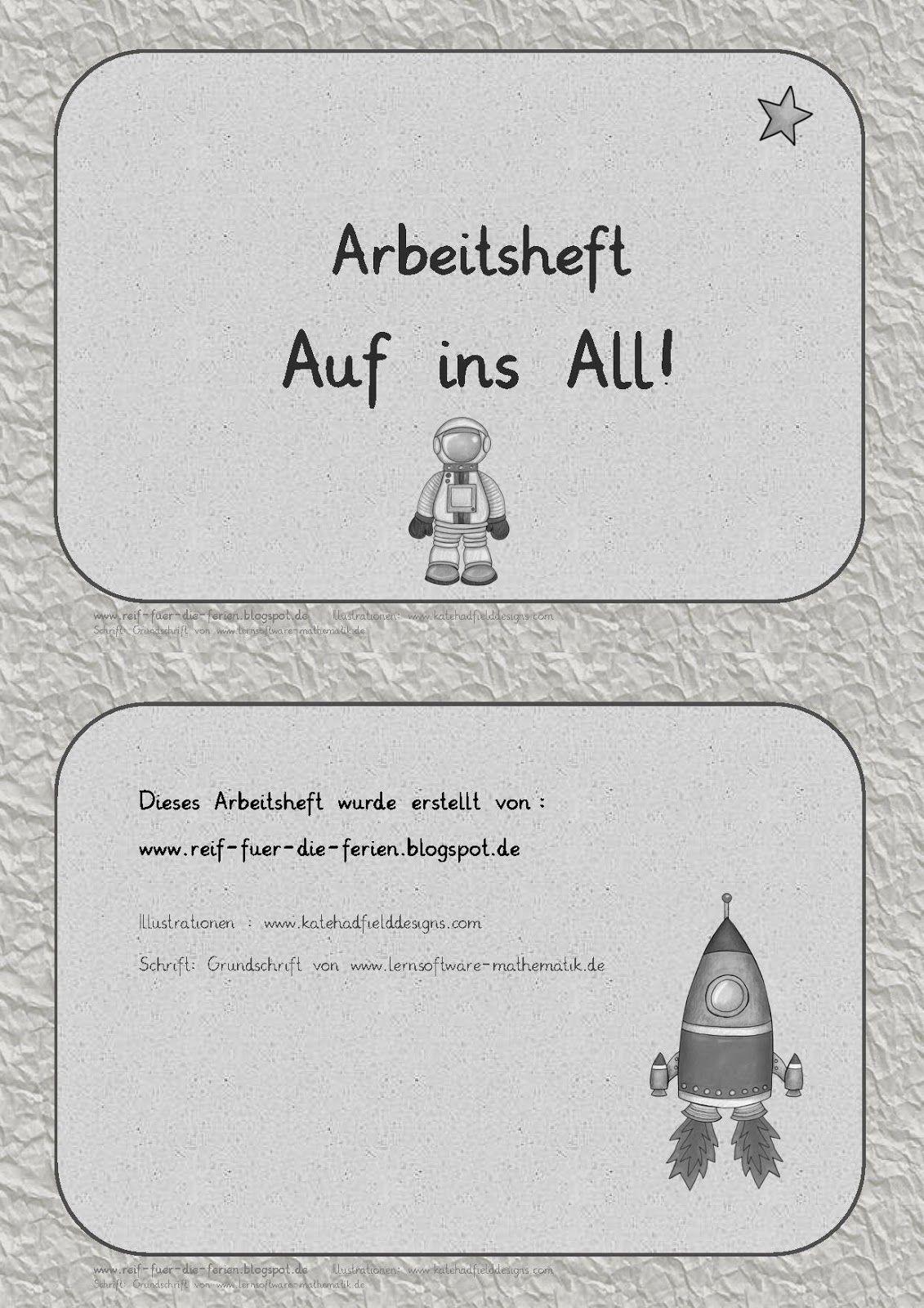 ABs Auf ins All - Grundschrift | Weltall | Pinterest | Weltall ...
