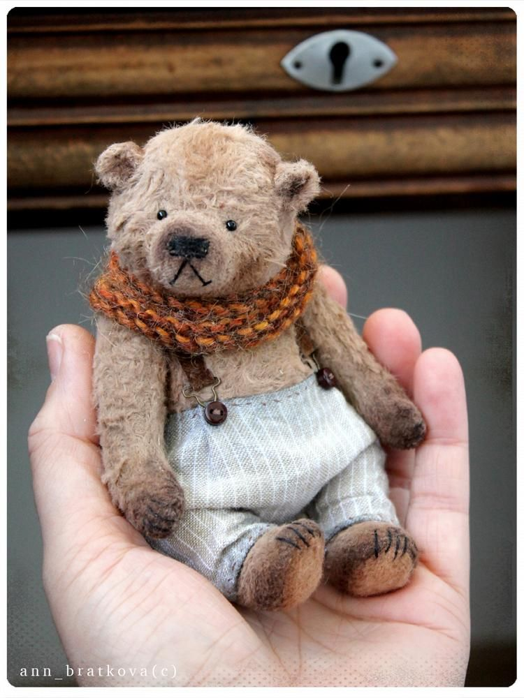 Tiny bear Mike by Anna Bratkova on Tedsby