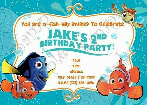 Invitación De Nemo Invitaciones De Cumpleaños