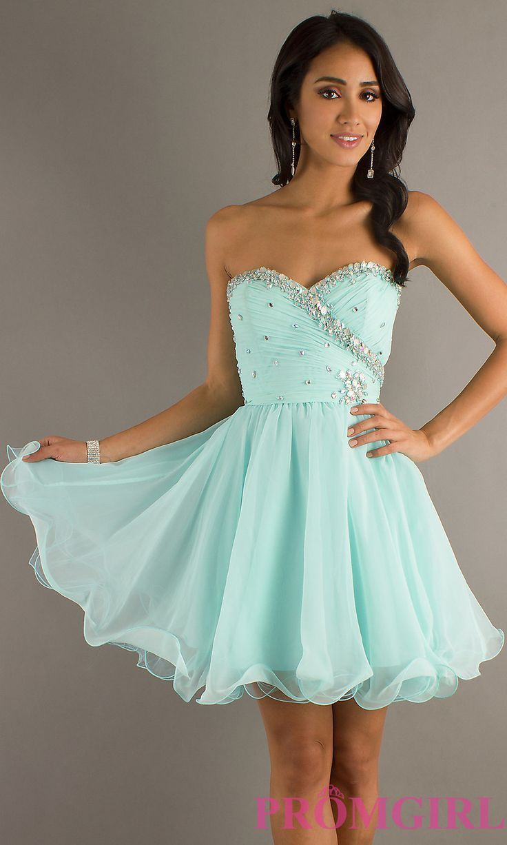 Green and white short dress  Awesome Homecoming Dresses Formal short dresses for juniors usually