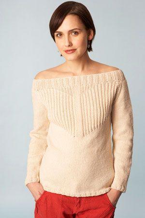 Free Knitting Pattern 70112AD Boatneck Raglan Pullover : Lion Brand ...