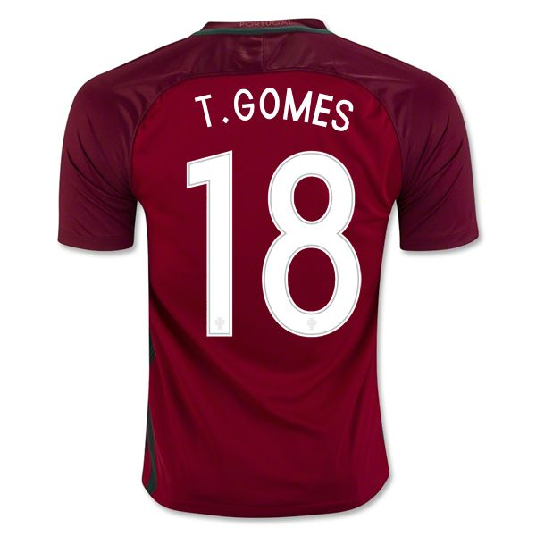 Tiago Gomes 18 2018 World Cup Portugal Home Soccer Jersey
