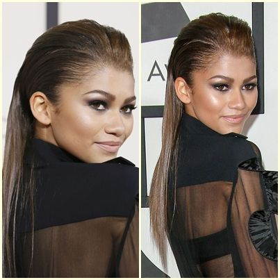 Pin By Instyle Indonesia On Great Hair Straight Hairstyles Sleek Back Hair Hair Styles
