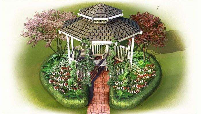 Landscape Around A Gazebo I Love This And My Gazebo Will Too