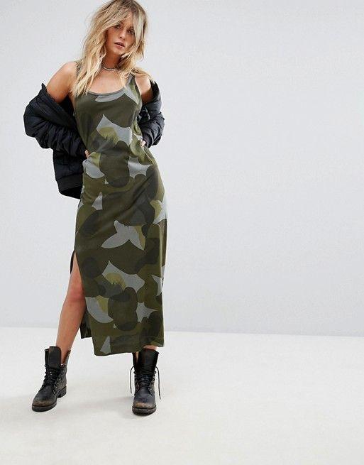 aead1fbe28f3a G-Star Be Raw Camo Tank Dress   asos   Tank dress, Dresses, Asos