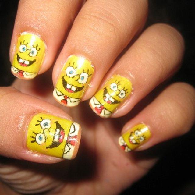 Spongebob Too Cute Nails Pinterest