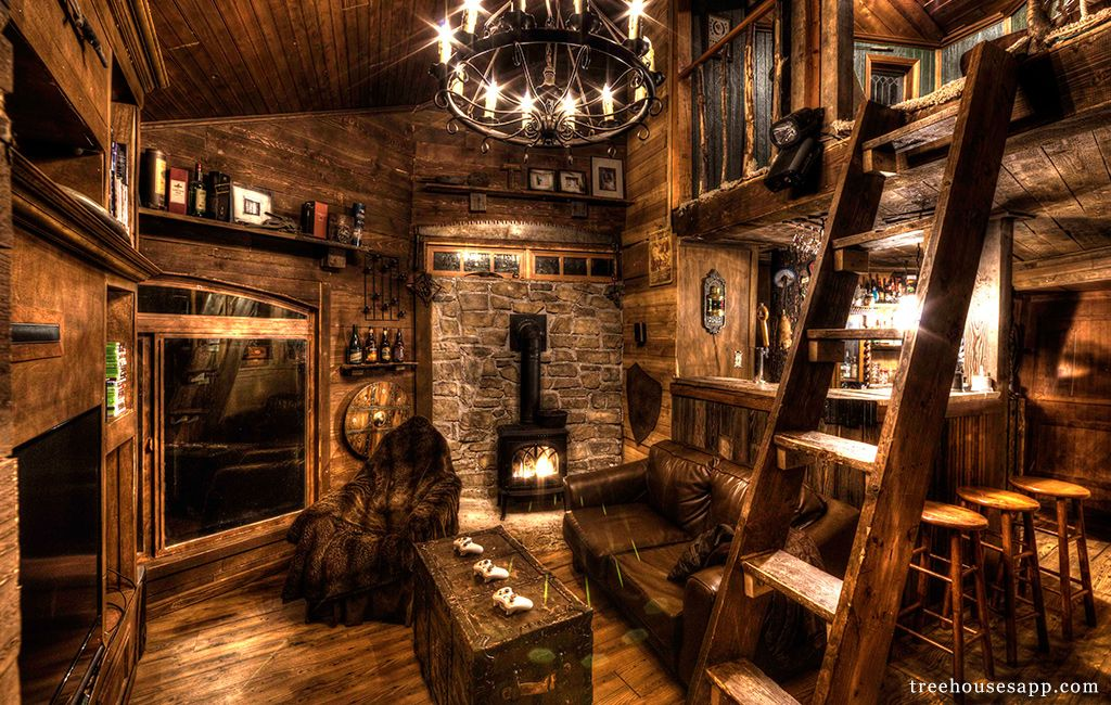 Tree House Inside Intended Inside Treehouse Inside The Is Equipped With Everything You Can Imagine And
