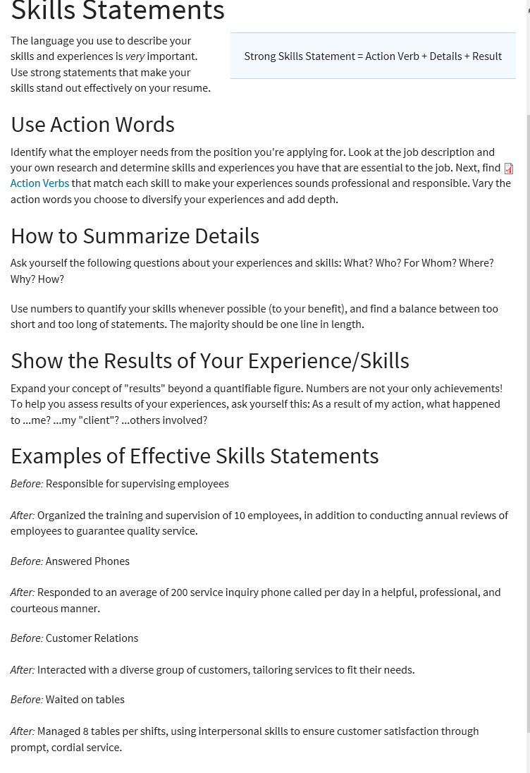 Skills For College Resume Magnificent How To Write Skills Effectively On A Resume Cvresumes And Cover .