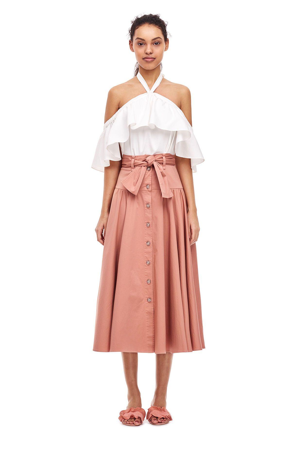 6b01156d8c Cotton Belted Skirt   Dream Closet   Skirt belt, Skirts, Cotton skirt