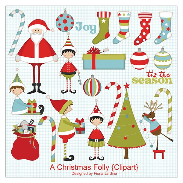 5+5 Friday} 10+ Free Clipart Downloads for Christmas | Christmas ...