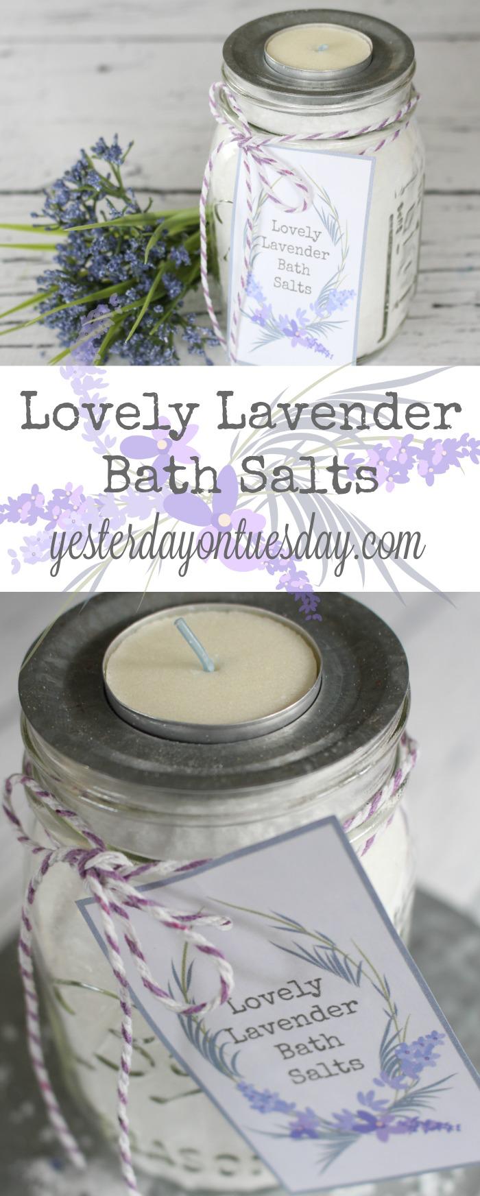 Lovely Lavender Bath Salts Yesterday On Tuesday Bath Salts Diy Bath Salts Gift Lavender Bath Salts