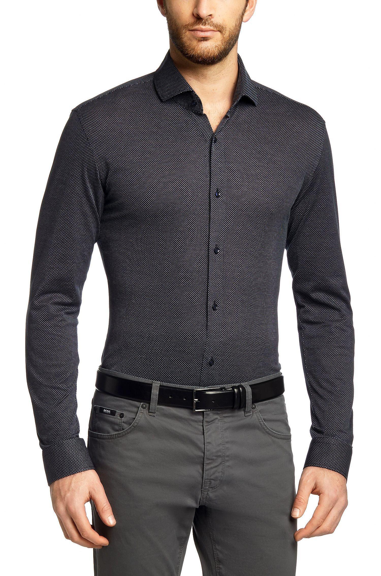 BOSS Chemise décontractée Slim Fit Mason 6 en coton Bleu foncé prix Chemise  homme Hugo Boss 160.00 € d6084734627