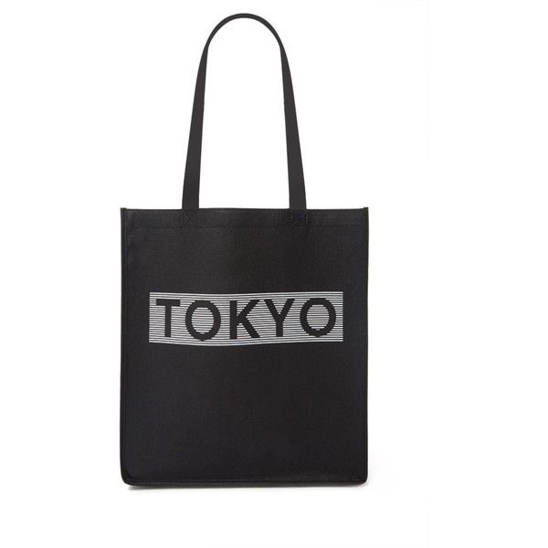 Forever21 Tokyo Shopper Tote ($1.90) ❤ liked on Polyvore featuring bags, handbags, tote bags, lightweight tote, woven tote bags, canvas purse, woven handbags and shopping tote bags