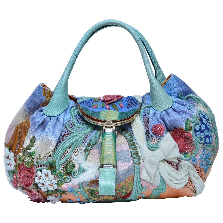 d649b307b4f8 Extremely Rare FENDI Wisteria Spy Handbag Fashion Art  06 Limited Edition  Mint