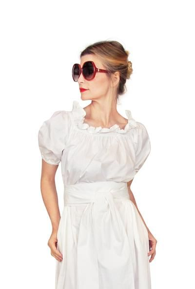 8d18b453d1 On And Off The Shoulder Dress - White