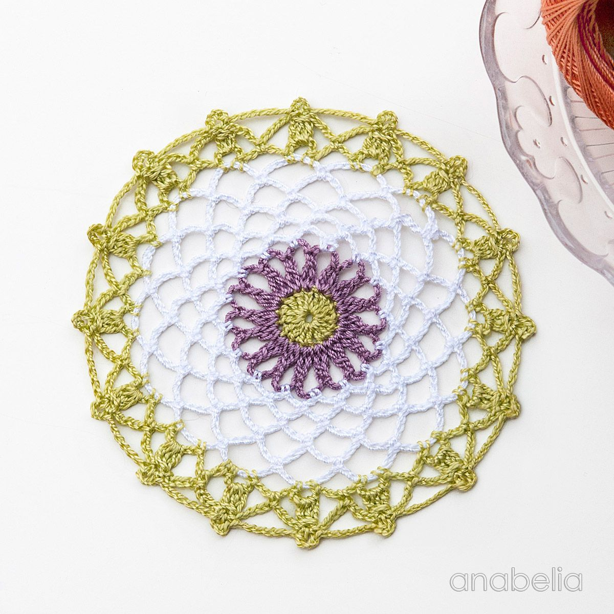 Mini crochet doilies free pattern, Anabelia Craft Design | Caminos ...