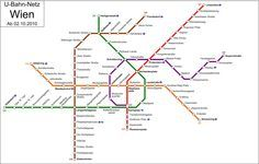 Vienna Metro Map And Metro System Info Travel And Sightseeing