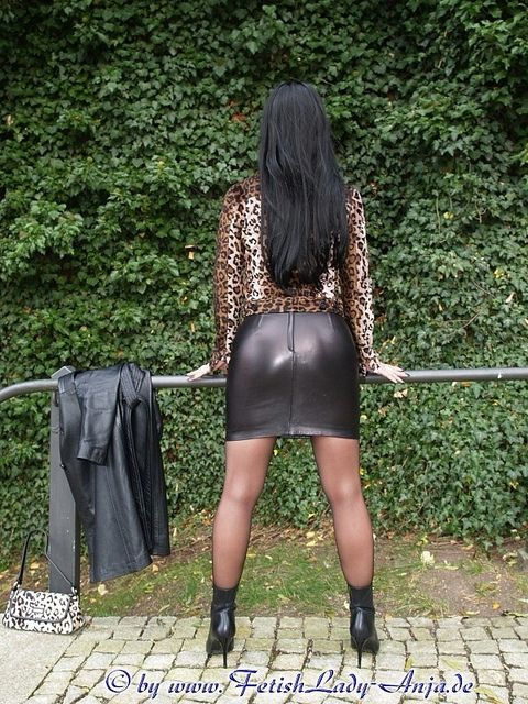 skin tight leather skirt leather skirt #2dayslook #new leather ...