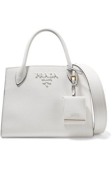 aa39100f9fd0 Prada - Textured-leather Tote - White