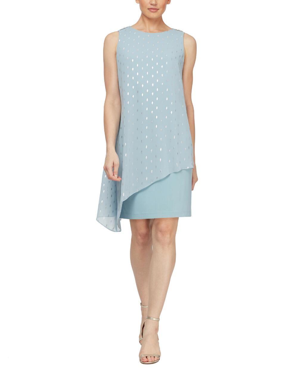 Foil Dot Capelet Shift Dress Casual Work Dresses Shirt Dress Fall Sl Fashions [ 1250 x 1000 Pixel ]