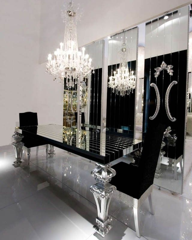 Pin By Modern Dining Tables On Tablescape Modern Dining Room Dining Table Black Glam Furniture