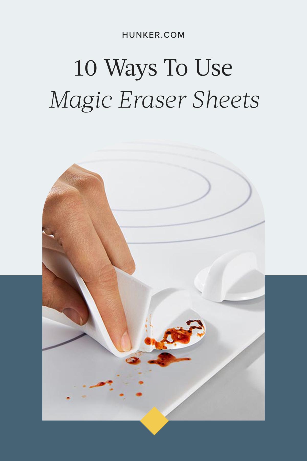 10 Surprisingly Magical Ways To Use Magic Eraser Sheets Hunker Magic Eraser Eraser Cleaning Hacks