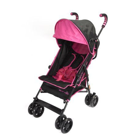 Wonder Buggy Cameron Multi Position Baby Stroller With Basket & Canopy With Sun Visor - Pink #largeumbrella