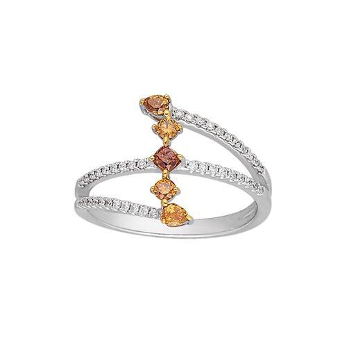 cb4388183 Kallati 1/2 ct. tw. Yellow and White Diamond Ring in 2019 | Fancy ...