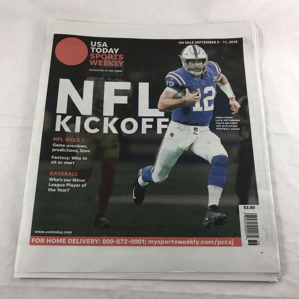USA Today Sports Weekly NFL Kickoff Newspaper Magazine