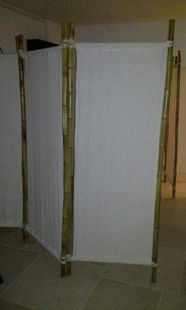Biombos en bambú y lienzo
