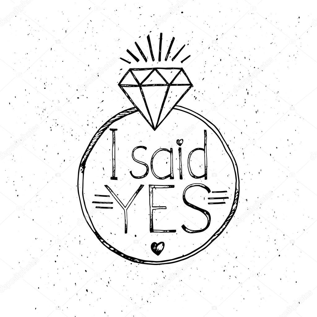 Download Royalty Free I Said Yes Fashion Quote Design T Shirt Print Silkscreen Stock Vector 1 Hand Embroidery Patterns Flowers Framed Embroidery Diy Prints