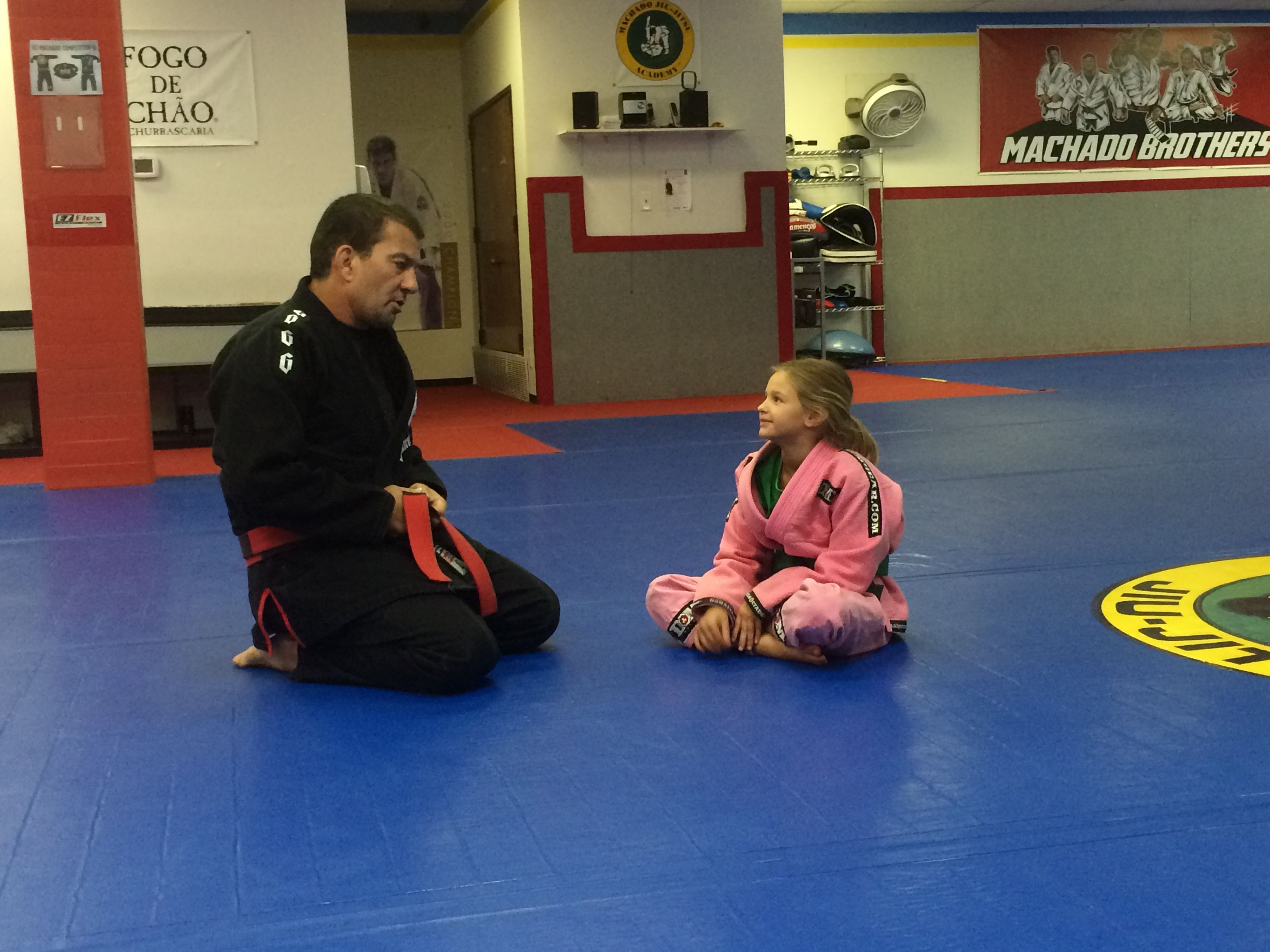 Jaley's private lesson with Carlos Machado 8th Degree Coral