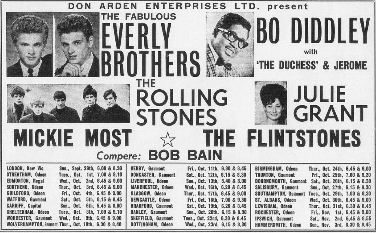 The Rolling Stones - 1st tour poster