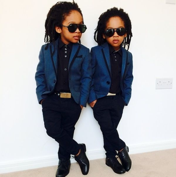 """2YungKings"" – Twin Brothers Dressed In Matching Dapper Outfits , http://photovide.com/?p=202052"