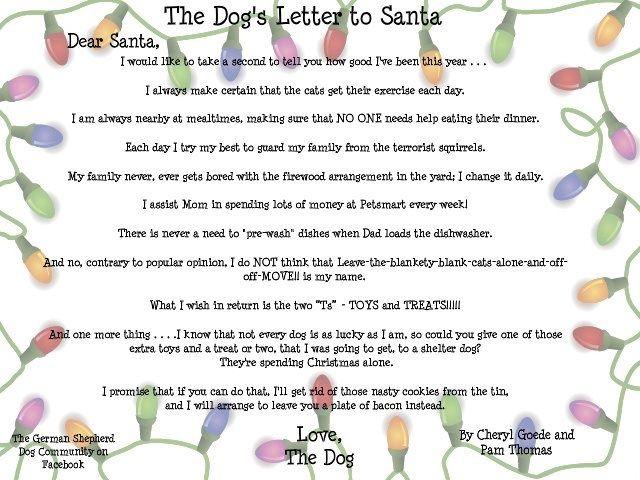 The DogS Letter To Santa  ChristmasJoy    Santa