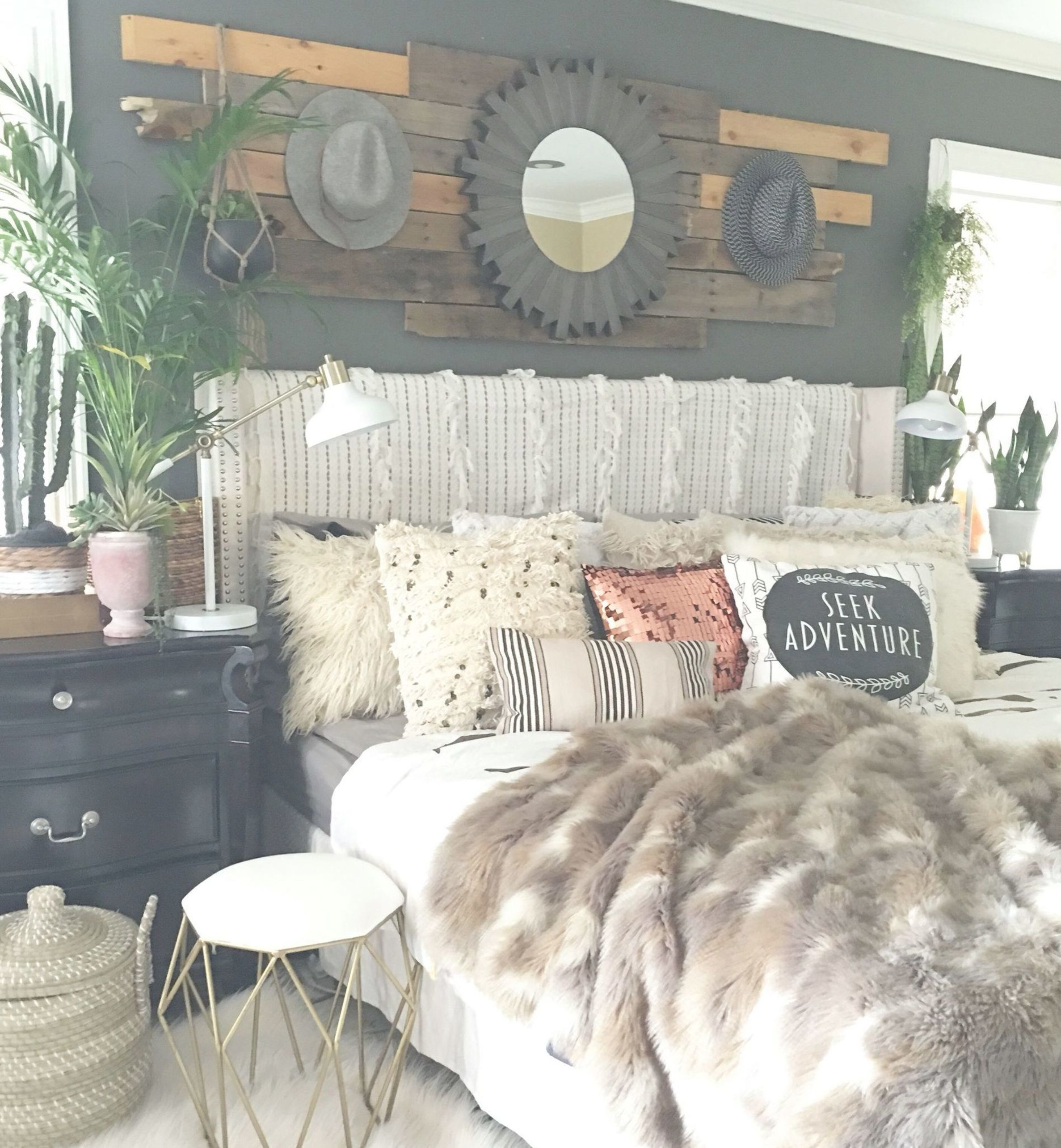 17 Classy Boho Bedroom Classy Boho Bedroom Bedroom Classy Log Wooden Wall Panelling With Bedroom Decor Cozy Guest Bedroom Colors Master Bedroom Decor Romantic