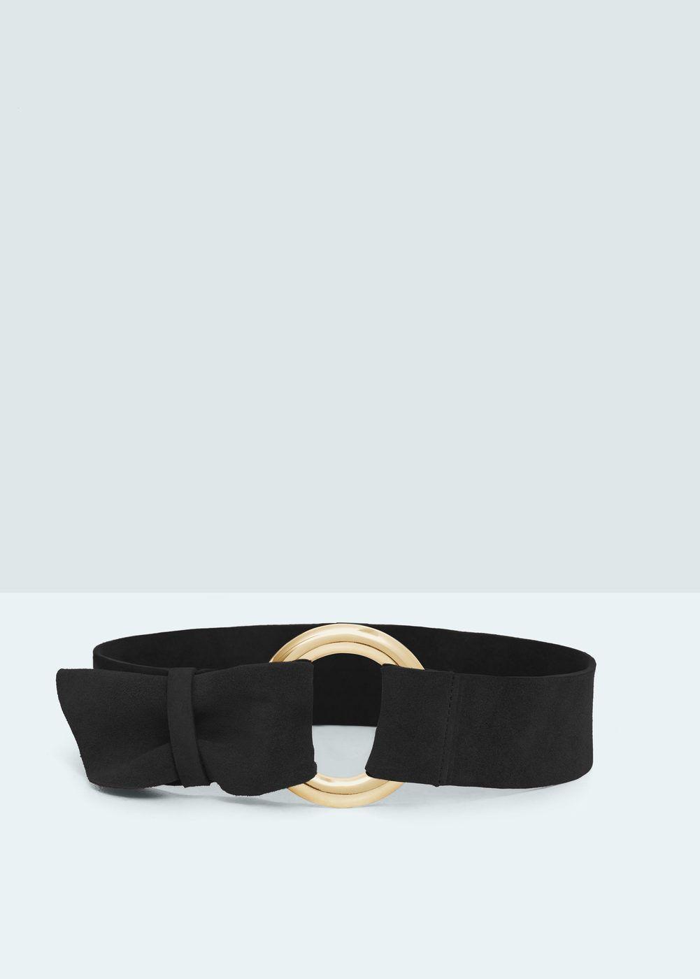 autentico 821a0 461f2 Cintura fusciacca crosta di cuoio - Donna | Cinture ...
