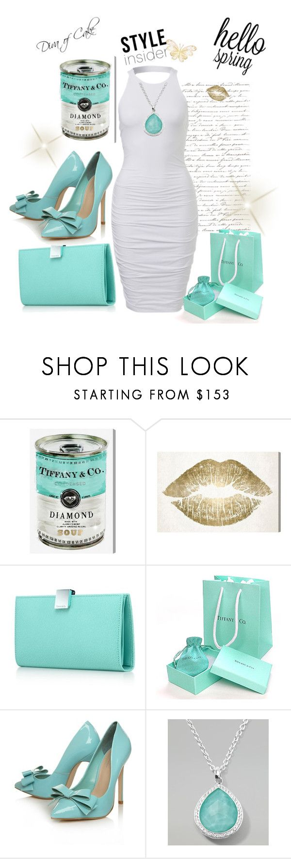 """""""Spring  outfit  Tiffany blue and White"""" by kercey ❤ liked on Polyvore featuring Oliver Gal Artist Co., Tiffany & Co., Carvela Kurt Geiger and Ippolita"""