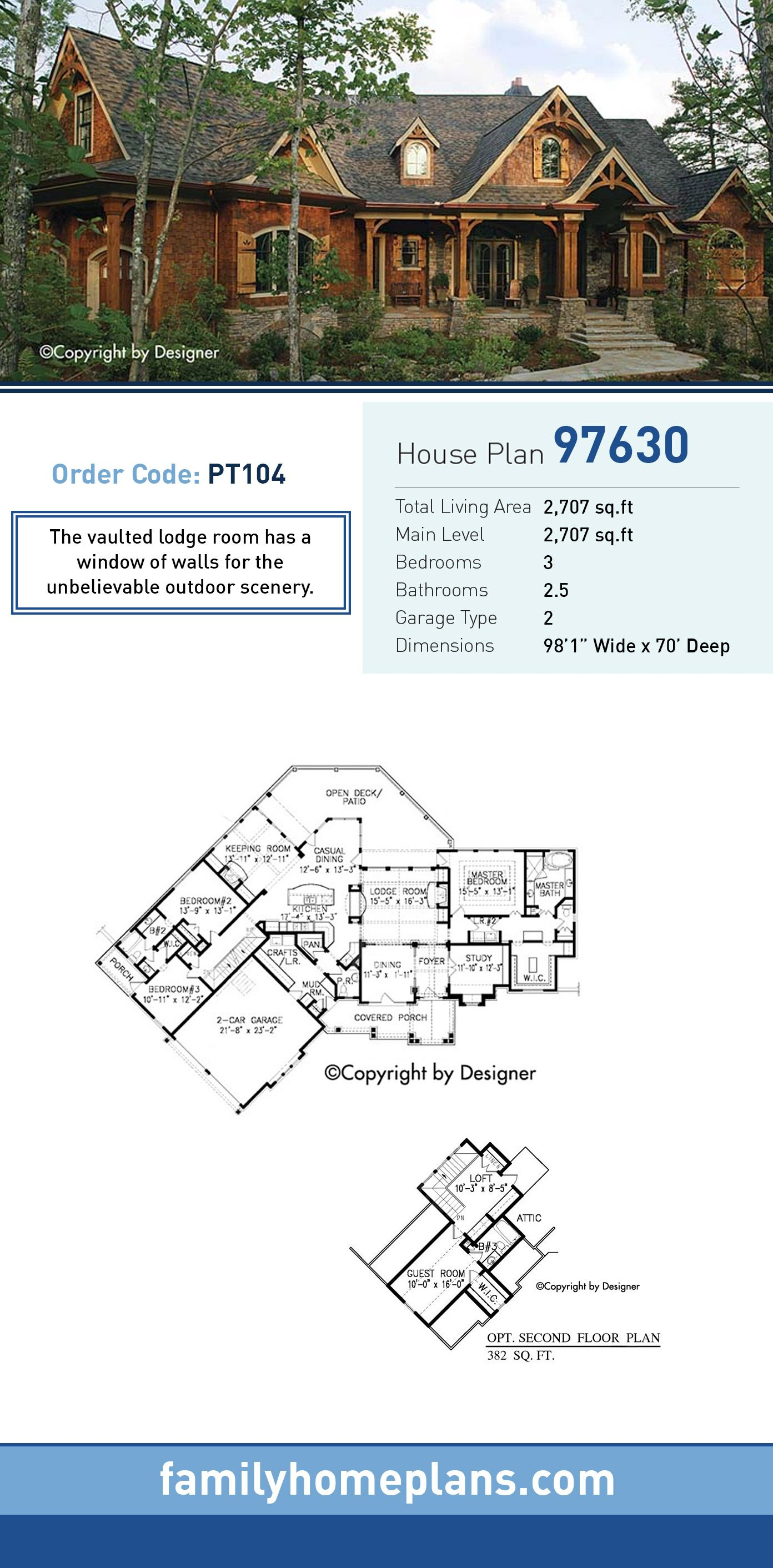 Cottage Country Craftsman Traditional House Plan 97630