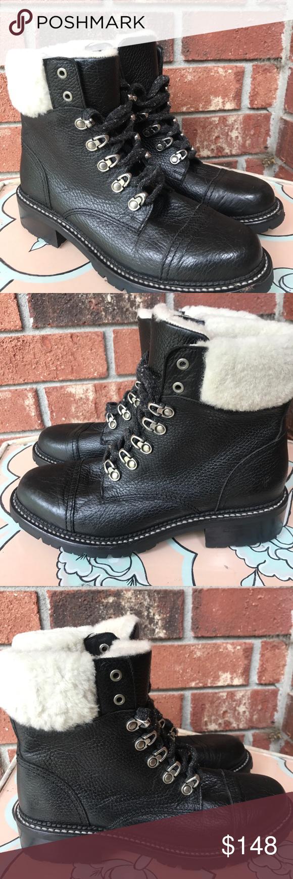 a1a53398a72 FRYE Samantha Shearling Hiker Boot- Black New, never worn. Inside ...