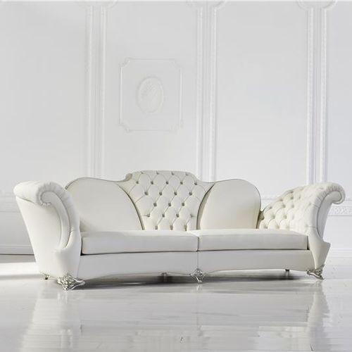 divano design nuovo barocco / in pelle / 2 posti / 3 posti
