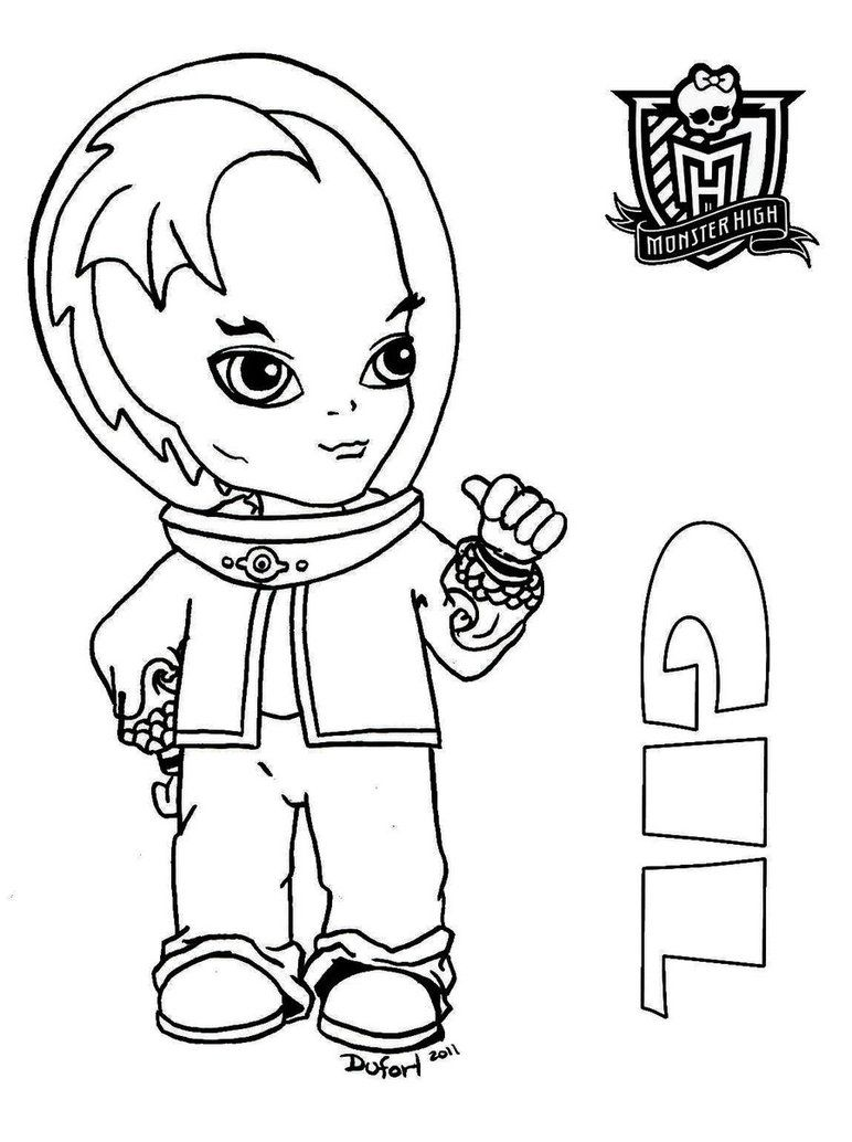 Baby Gil printable coloring sheet from JadeDragonne at Deviant Art ...